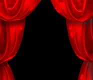 красный цвет занавеса Стоковое Изображение RF