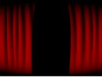 красный цвет занавеса Стоковые Изображения