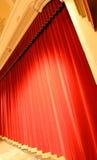 красный цвет занавеса Стоковые Фотографии RF