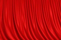 красный цвет занавеса Стоковое Изображение