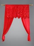 красный цвет занавеса Стоковая Фотография RF