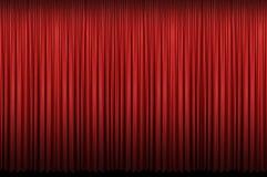 красный цвет занавеса Стоковая Фотография