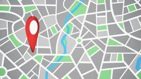 Красный цвет заостряет внимание на карте иллюстрация вектора