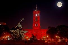 красный цвет здание муниципалитет berlin Стоковое Изображение