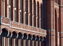 красный цвет здание муниципалитет berlin Стоковое Изображение RF