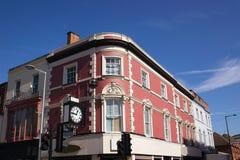 красный цвет здания кирпича стоковое фото