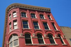 красный цвет здания кирпича Стоковая Фотография RF