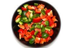 красный цвет зеленого перца Стоковое Изображение RF