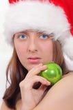 красный цвет зеленого цвета девушки крышки шарика славный Стоковая Фотография