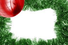 красный цвет зеленого цвета рамки рождества шарика Стоковые Фото