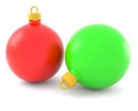 красный цвет зеленого цвета рождества шариков Стоковые Фотографии RF
