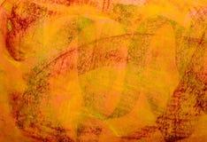 красный цвет зеленого grunge предпосылки померанцовый пастельный Стоковое Изображение RF