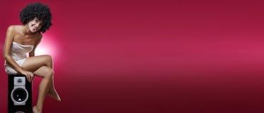 красный цвет знамени Стоковые Фотографии RF