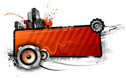 красный цвет знамени Стоковое фото RF
