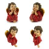 красный цвет золота ангелов Стоковое фото RF