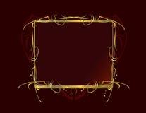 красный цвет золота рамки предпосылки декоративный Стоковые Изображения