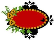 красный цвет золота рамки цветка бесплатная иллюстрация