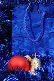 красный цвет золота рождества колокола шарика Стоковое Изображение RF