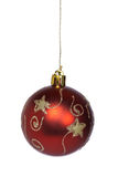 красный цвет золота рождества шарика Стоковое фото RF