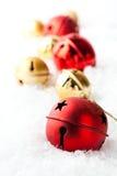 красный цвет золота рождества baubles Стоковые Изображения RF