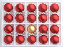красный цвет золота украшений рождества Стоковые Фотографии RF