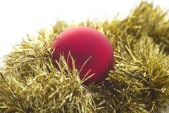 красный цвет золота украшения рождества Стоковые Фото
