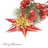 красный цвет золота украшения рождества Стоковые Изображения