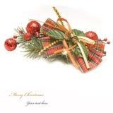 красный цвет золота украшения рождества Стоковое Фото
