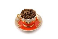 красный цвет золота чашки Стоковое Фото