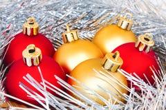 красный цвет золота шариков Стоковое Изображение
