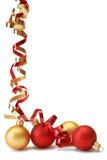 красный цвет золота baubles Стоковая Фотография RF