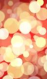 красный цвет золота bokeh предпосылки Стоковое Изображение RF