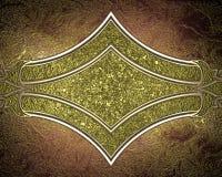 красный цвет золота рамки предпосылки Элемент для конструкции Шаблон для конструкции скопируйте космос для брошюры объявления или Стоковая Фотография
