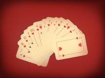 красный цвет играть карточек Стоковое фото RF