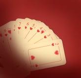 красный цвет играть карточек Стоковое Изображение