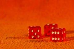 красный цвет игры плашек к Стоковое Изображение