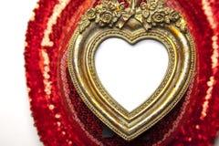 красный цвет изображения сердца рамки предпосылки Стоковое фото RF