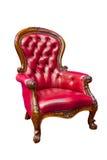 красный цвет изолированный креслом кожаный роскошный Стоковое фото RF