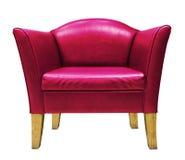 красный цвет изолированный креслом Стоковое Фото
