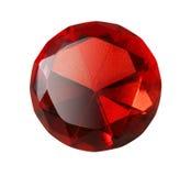 красный цвет изолированный самоцветом Стоковые Фотографии RF
