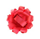 красный цвет изолированный смычком Стоковые Изображения RF