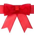 красный цвет изолированный смычком Стоковые Фотографии RF