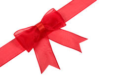 красный цвет изолированный смычком Стоковое фото RF