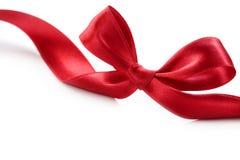 красный цвет изолированный смычком Стоковые Фото