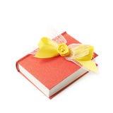 красный цвет изолированный книгой Стоковое Фото