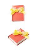 красный цвет изолированный книгой Стоковые Фотографии RF