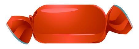 красный цвет изолированный конфетой Стоковое Изображение