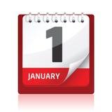 красный цвет иконы календара Стоковая Фотография RF