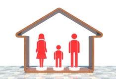 красный цвет иконы семьи Стоковая Фотография RF