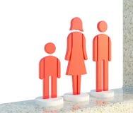 красный цвет иконы семьи Стоковые Фото
